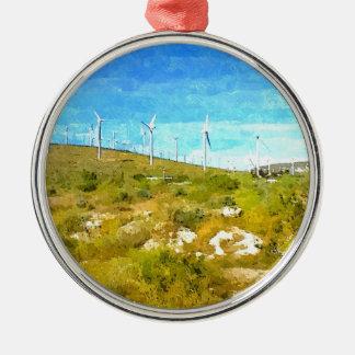 Modern Windmills Christmas Tree Ornaments