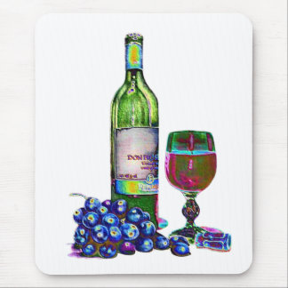 Modern Wine and Grapes Art Gifts Mouse Pad