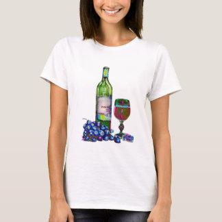 Modern Wine and grapes art T-Shirt