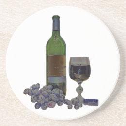 Modern Wine Art Coaster