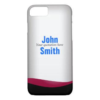 Modern Wine Bottle Custom Name iPhone 7 Case