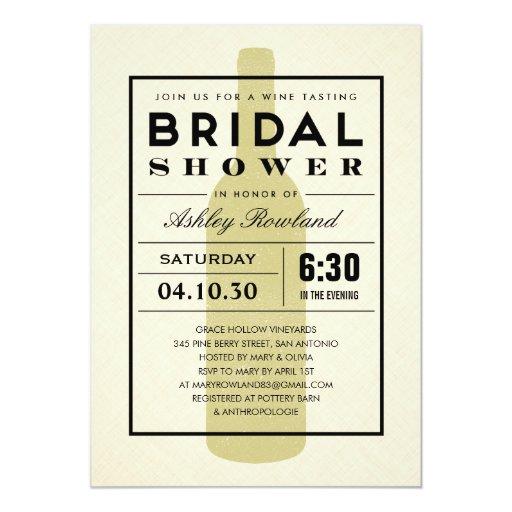 Modern wine bridal shower invitations zazzle for Modern bridal shower invitations