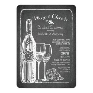Wine bridal shower invitations zazzle modern wine cheese bridal shower invitation filmwisefo