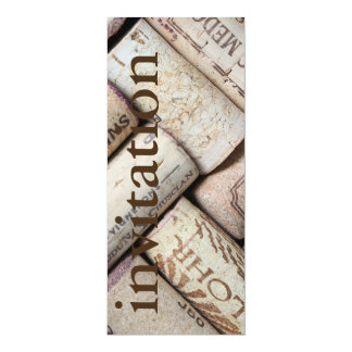 modern wine corks - winetasting bridal shower card