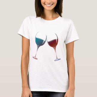 Modern Wine glasses art T-Shirt