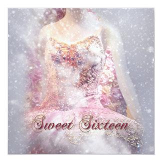 Modern Winter Dance Sweet Sixteen Invitation
