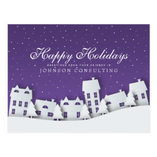 Business holiday greetings postcards zazzle modern winter scene holiday greetings postcard m4hsunfo