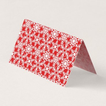 Professional Business Modern Winter Snowflake Web Holiday Greeting Card