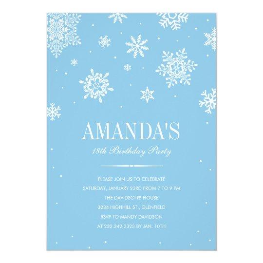 modern winter wonderland invitations zazzle com
