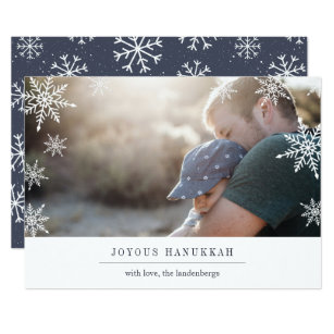 Hanukkah cards happy hanukkah cards zazzle modern wish hanukkah photo card editable message m4hsunfo
