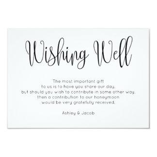 Modern Wishing Well Simple Script Wedding Inserts Card