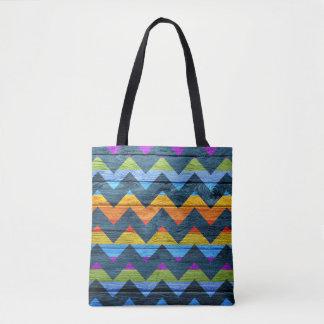 Modern Wood Colorful Chevron Pattern #11 Tote Bag