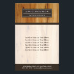 """Modern Wood Grain Professional Classy Flyer<br><div class=""""desc"""">Modern Wood Grain Professional Classy Flyer Template. You can add additional information on the back.  (1) For further customization,  please click the &quot;customize further&quot; link and use our design tool to modify this template.  (2) If you need help or matching items,  please contact me.</div>"""