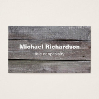 Modern Wood Grey Personal Business Card