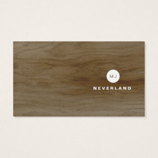 Modern Wood Knockout Business Card