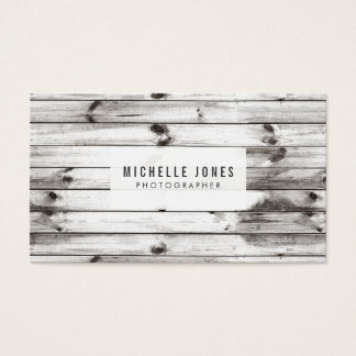Modern Wood Photographer Business Cards