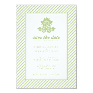 "Modern Woodcut Floral Save The Date Announcement 5"" X 7"" Invitation Card"
