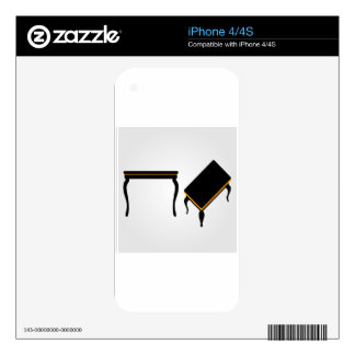 Modern wooden coffee table elevation and 3d decals for iPhone 4S