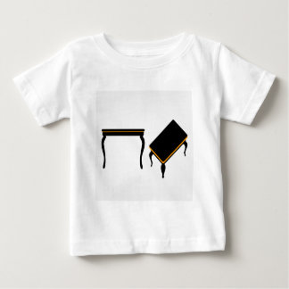 Modern wooden coffee table elevation and 3d t-shirts
