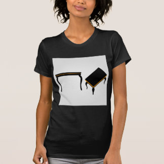 Modern wooden coffee table elevation and 3d shirts