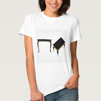 Modern wooden coffee table elevation and 3d tshirt