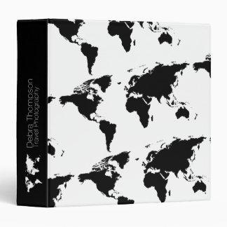 modern world maps travel personalized binder