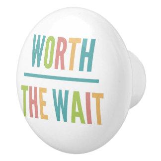 Modern Worth the Wait - Adoption, New Baby Ceramic Knob