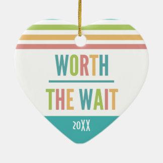 Modern Worth the Wait - Adoption, New Baby Ceramic Ornament