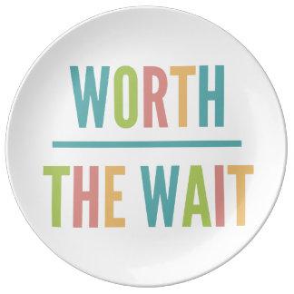 Modern Worth the Wait - Adoption, New Baby Dinner Plate