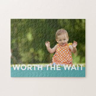 Modern Worth the Wait - Adoption, New Baby Jigsaw Puzzle