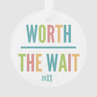 Modern Worth the Wait - Adoption, New Baby Ornament