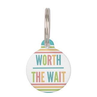 Modern Worth the Wait - Adoption, New Baby Pet Name Tag