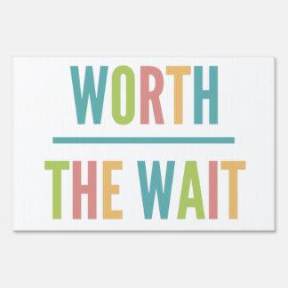 Modern Worth the Wait - Adoption, New Baby Sign