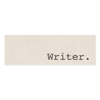 Modern writer or author personal profile or Double-Sided mini business cards (Pack of 20)