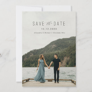 Modern Writing Save the Date