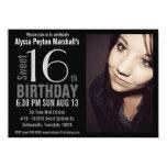 Modern XL Photo Sweet 16th Birthday Party 4.5x6.25 Paper Invitation Card