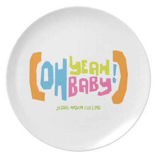 Modern Yeah Baby Personalized Gift Plate