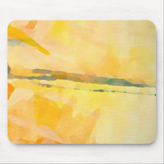 Modern Yellow Abstract Expressionist Mouse Pad