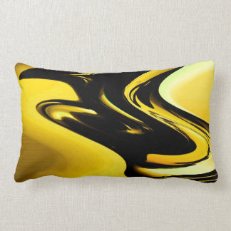 Modern Yellow Abstract Throw Pillow