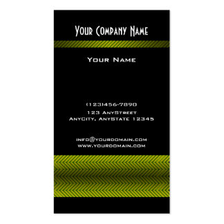Modern Yellow and Black Racing Stripe Double-Sided Standard Business Cards (Pack Of 100)