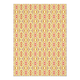 Modern Yellow and Brown Chains Pattern Card