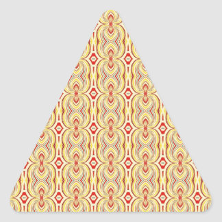 Modern Yellow and Brown Chains Pattern Triangle Sticker