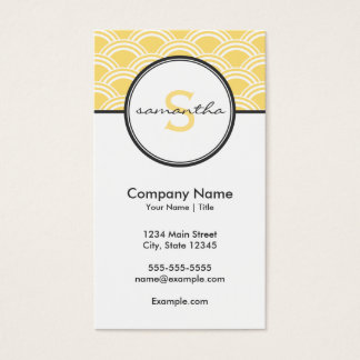 Modern Yellow and Gray Business Card