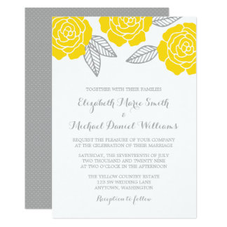 Yellow And Gray Invitations Announcements Zazzle