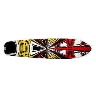 Modern yellow and red circle design skate board decks