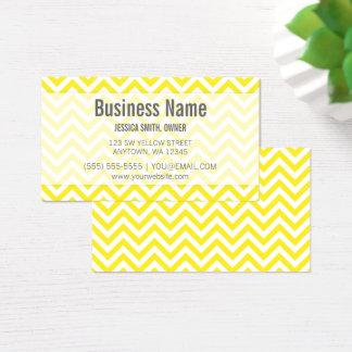 Modern Yellow and White Chevron Pattern Business Card