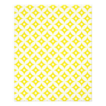 Modern Yellow and White Circle Polka Dots Pattern Flyer