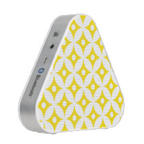Modern Yellow and White Circle Polka Dots Pattern Speaker