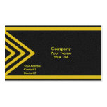Modern yellow arrows business cards