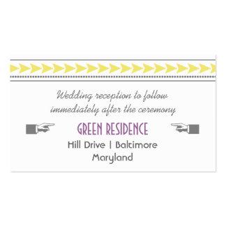 Modern Yellow Arrows Wedding Insert Business Card